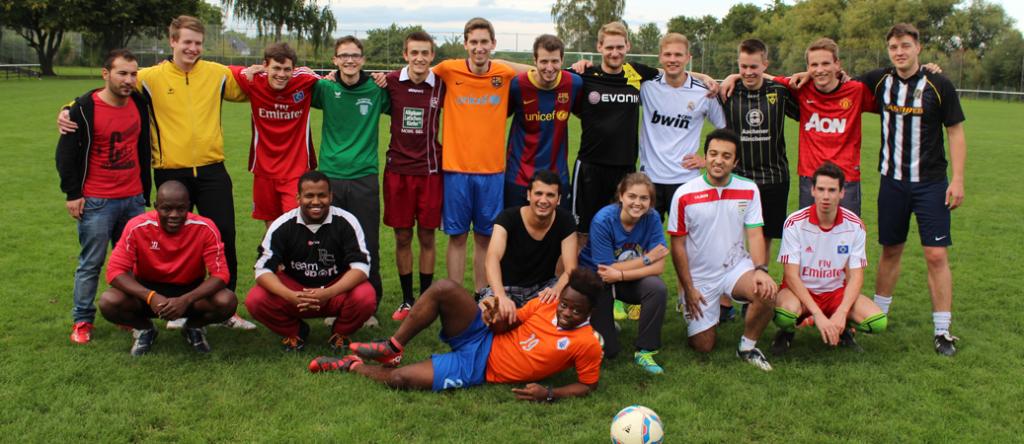 Fussball mit Flüchtlingen